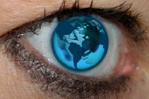 Eye with world