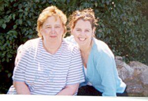 Jane & Joady sitting on rock
