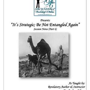 Strategically Positioned:  It's Strategic; Be Not Entangled Again (Part 6)